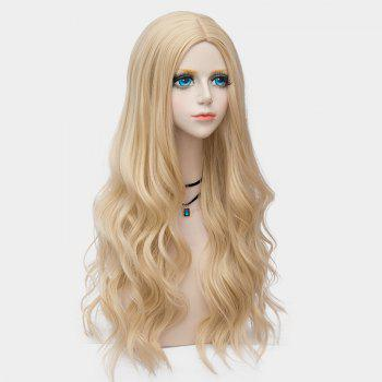 Long Center Parting Layered Wavy Synthetic Party Wig - VENETIAN GOLD