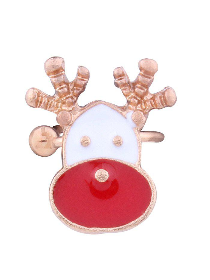 1PC Christmas Deer Ear Cuff - RED