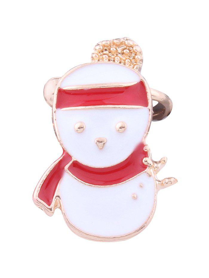 1PC Christmas Snowman Ear Cuff - Blanc