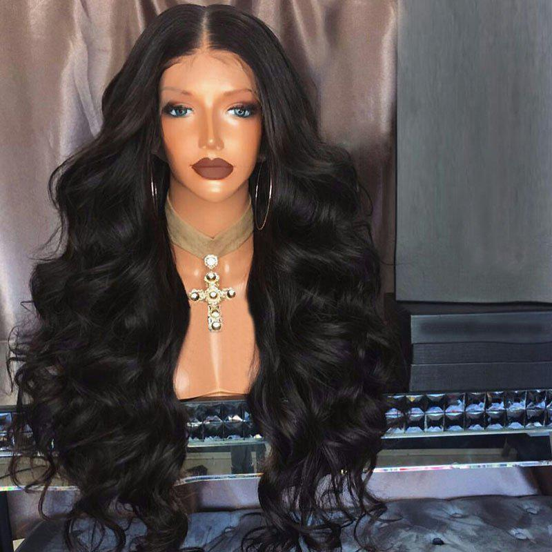 Long Middle Part Fluffy Bouffant Wave Synthetic Lace Front Wig long free part fluffy kinky curly synthetic lace front wig