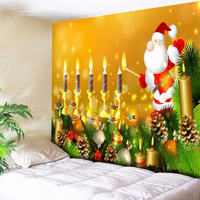 цены Santa Claus Wall Decor Candle Christmas Tapestry