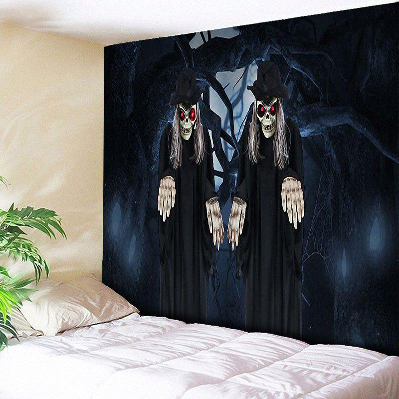 Halloween Zombies Print Wall Art Tapestry - BLACK W79 INCH * L59 INCH