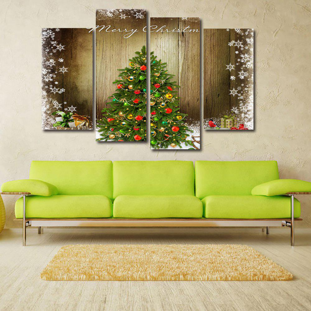 Christmas Tree Print Unframed Canvas Paintings wall art sunset pyramids printed unframed canvas paintings