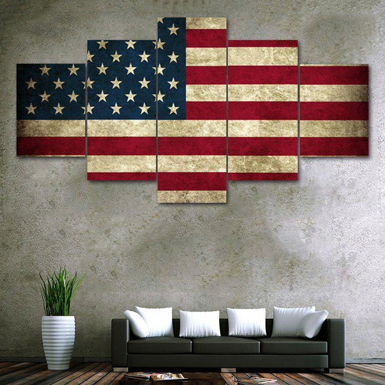 Patriotism US Flag Print Unframed Canvas Paintings wall art sunset pyramids printed unframed canvas paintings
