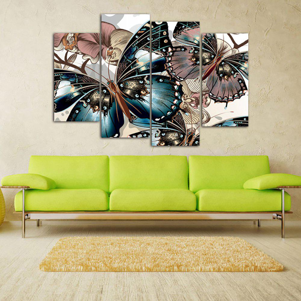 Vintage Butterfly Print Unframed Canvas Paintings burning guitar pattern unframed wall art canvas paintings