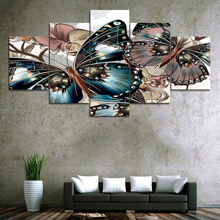 Vintage Butterfly Print Unframed Canvas Paintings wall art sunset pyramids printed unframed canvas paintings