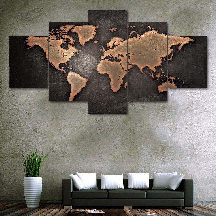 Vintage World Map Print Unframed Canvas Paintings браслеты michael kors mkj5389710