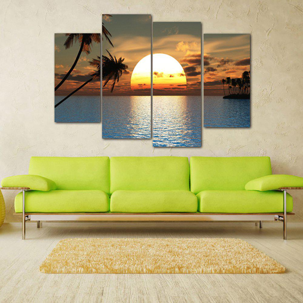 Ocean Sunset Print Unframed Canvas Paintings wall art sunset pyramids printed unframed canvas paintings