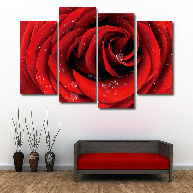Rose Flower Print Unframed Canvas Paintings wall art sunset pyramids printed unframed canvas paintings