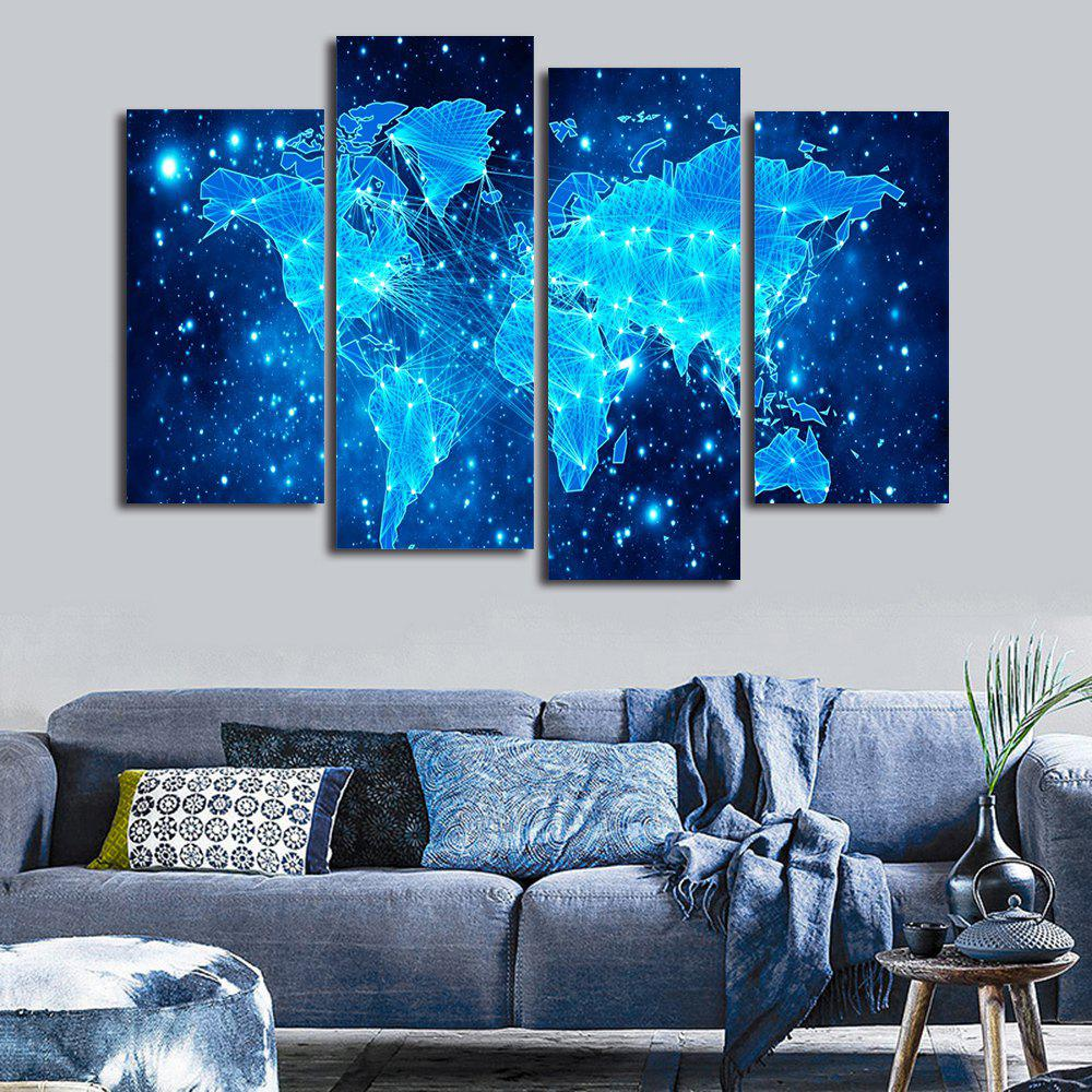 Galaxy World Map Print Unframed Canvas Paintings wall art sunset pyramids printed unframed canvas paintings