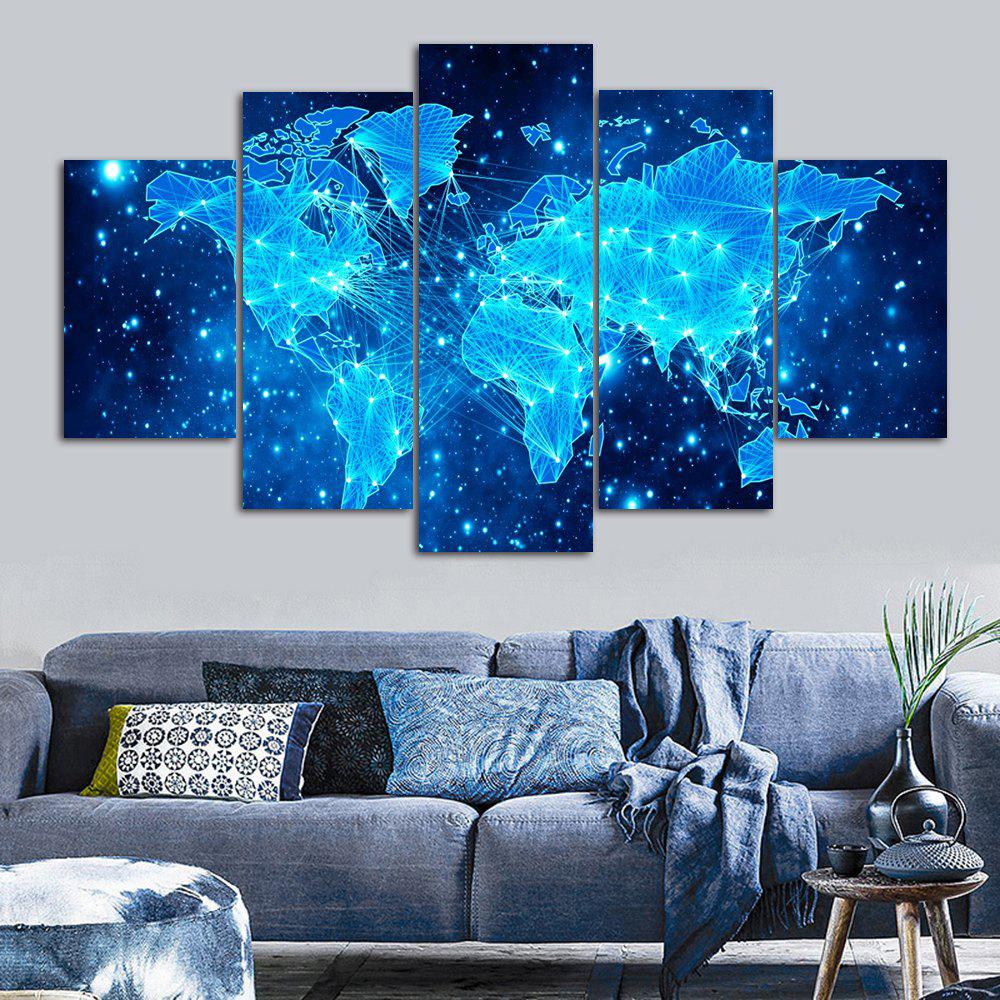 Galaxy World Map Print Unframed Canvas Paintings burning guitar pattern unframed wall art canvas paintings