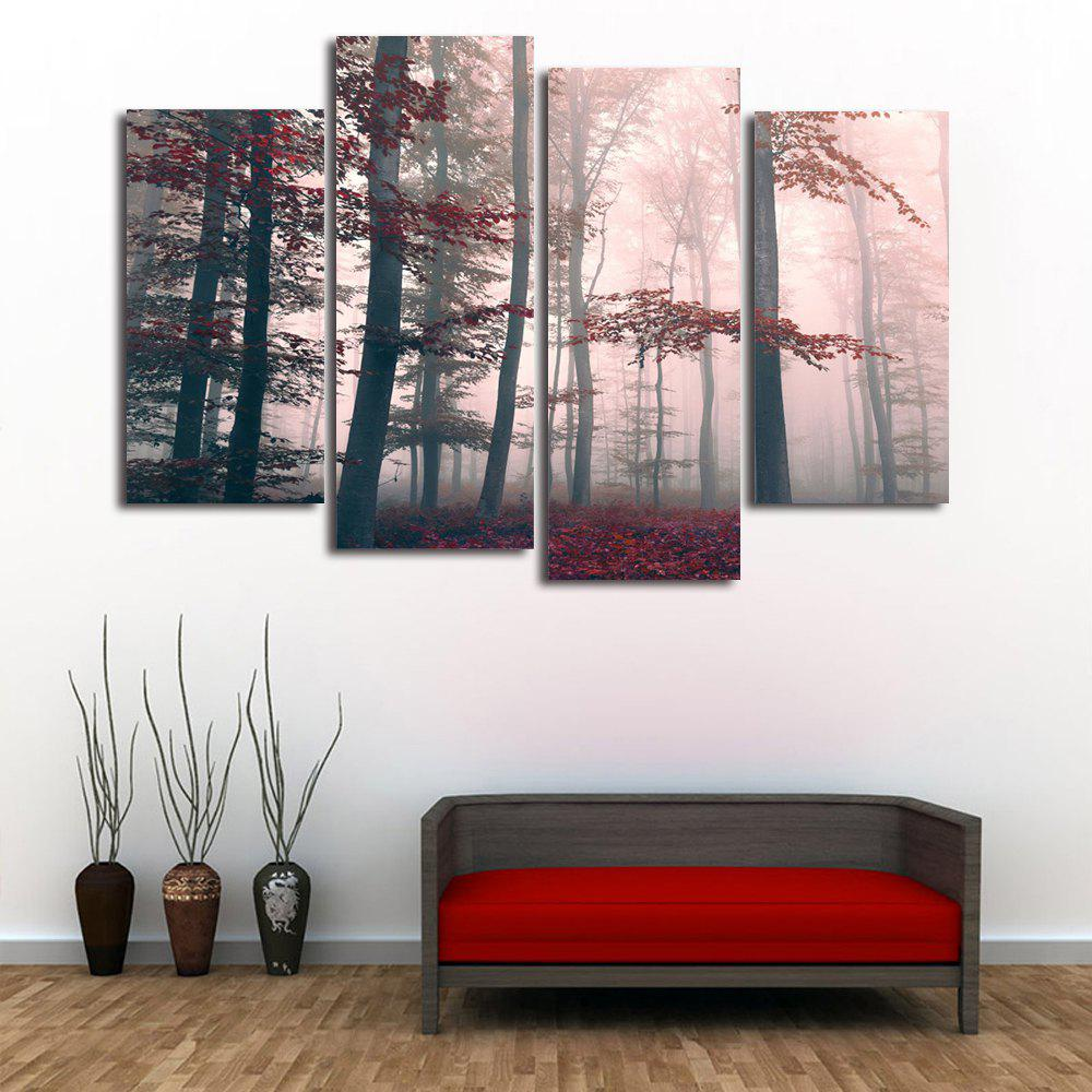 Fog Maple Forest Print Unframed Canvas Paintings maple forest pattern unframed decorative canvas paintings