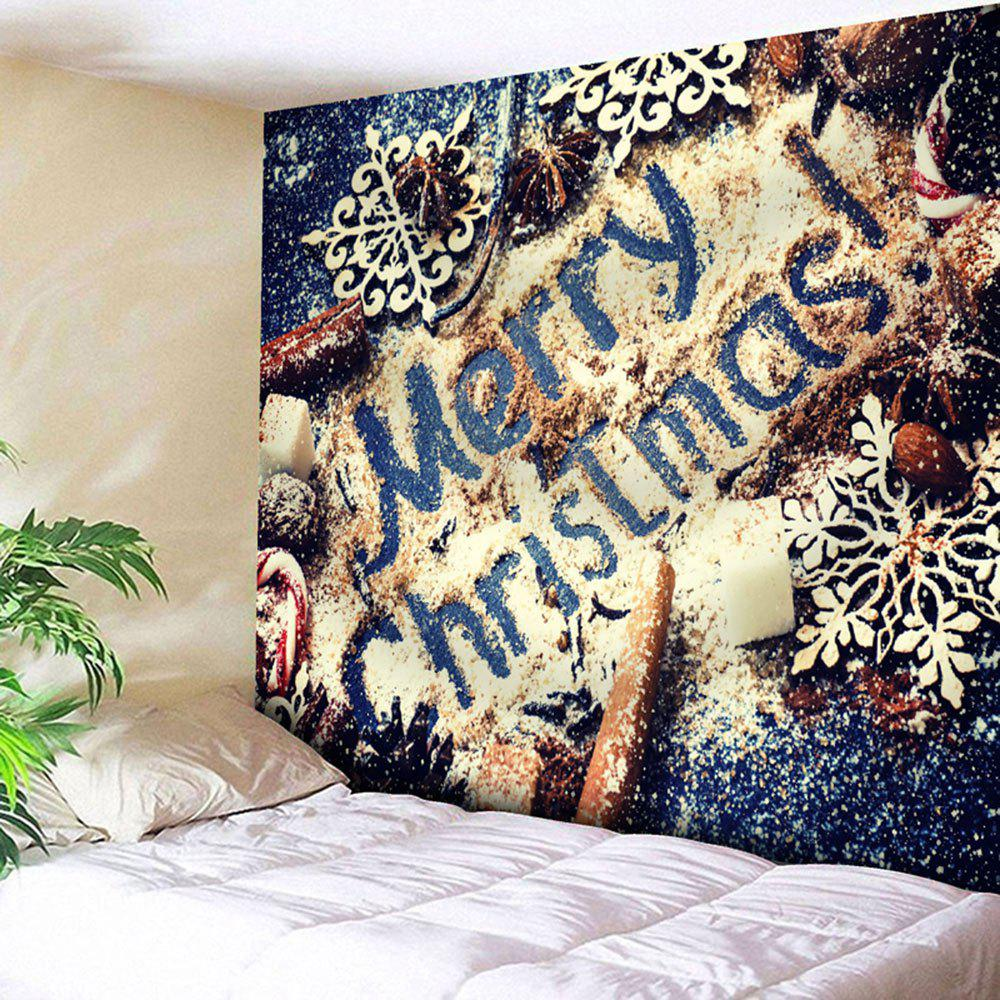 Wall Decor Merry Christmas Graphic Tapestry waterproof merry christmas graphic pattern wall hanging tapestry