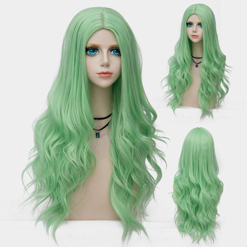 Long Center Parting Layered Wavy Synthetic Party Wig - OASIS