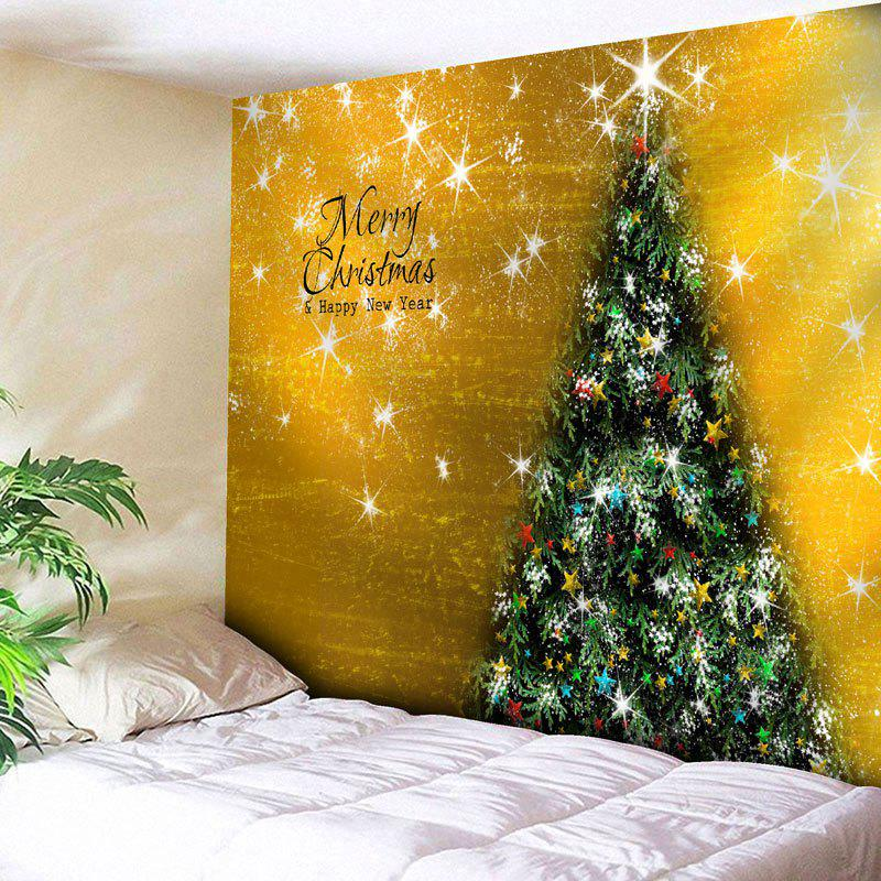 Merry Christmas Tree Pattern Wall Tapestry waterproof merry christmas graphic pattern wall hanging tapestry