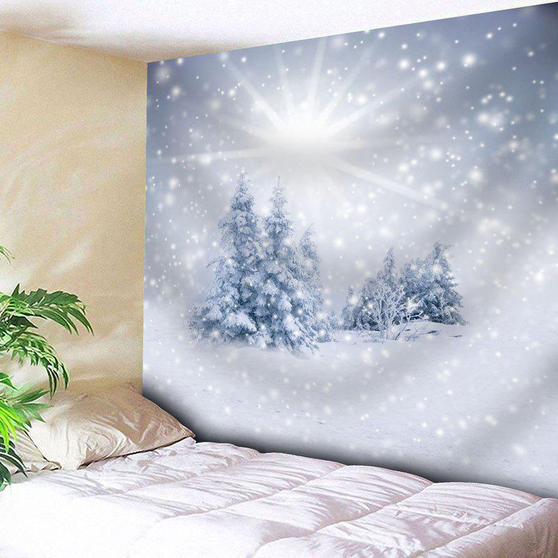 Christmas Snow Tree Wall Decor Tapestry christmas town snow moon wall tapestry