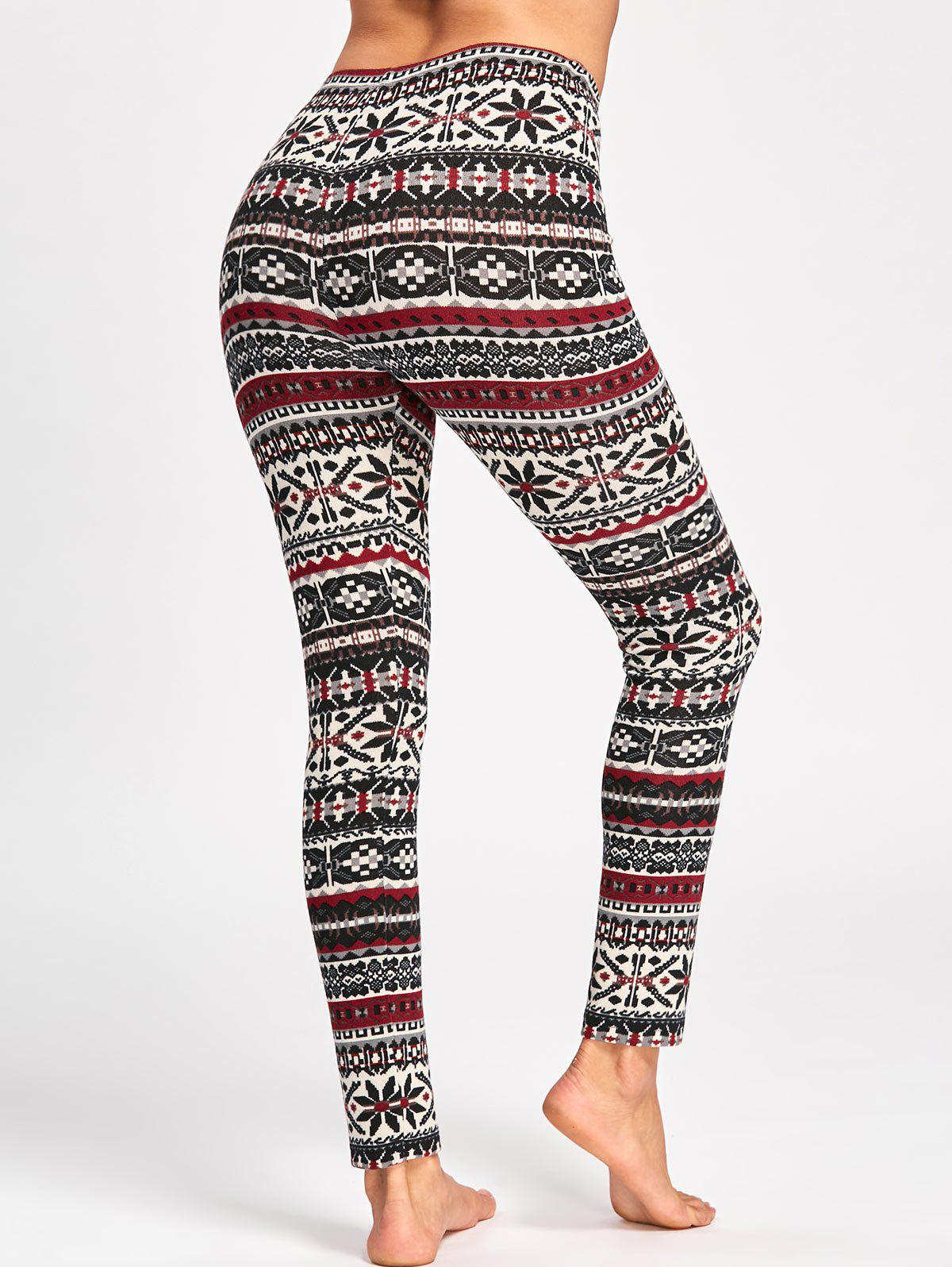 Christmas Graphic Skinny Pants - COLORMIX 2XL