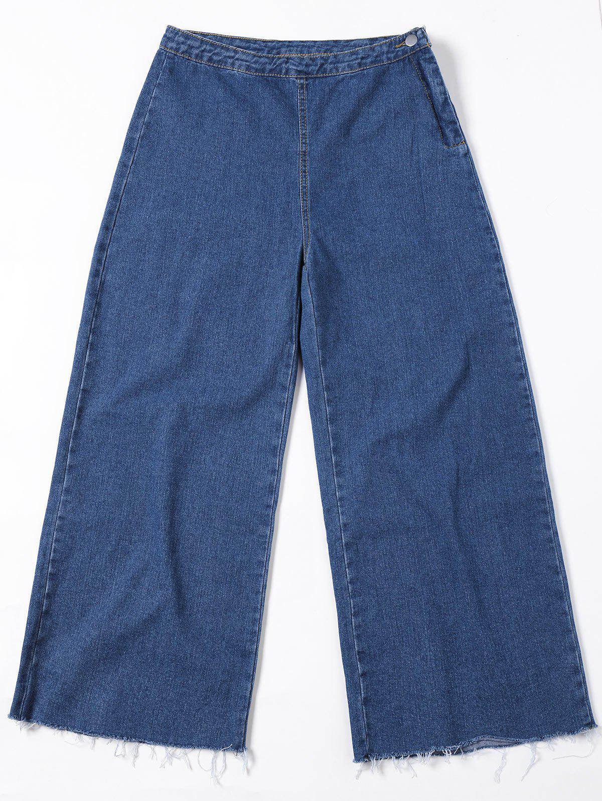 Wide Leg Jeans - BLUE JEANS XL