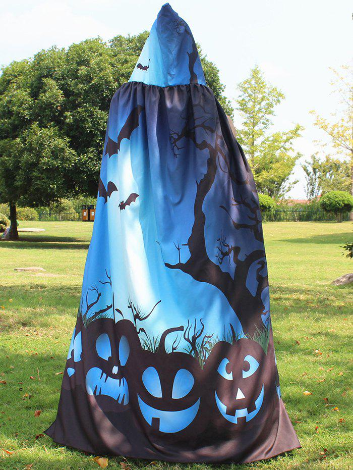 Halloween Printed Magic Cloak - BLUE