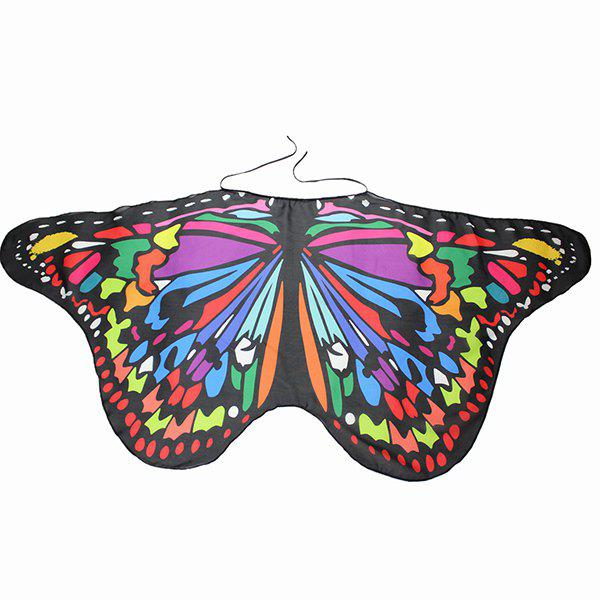 Colorful Butterfly Wings Shape Scarf - COLORFUL