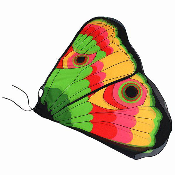 Colorful Butterfly Wings Shape Scarf - YELLOW / GREEN