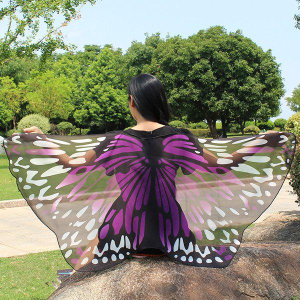 Colorful Butterfly Wings Shape Scarf 226810511