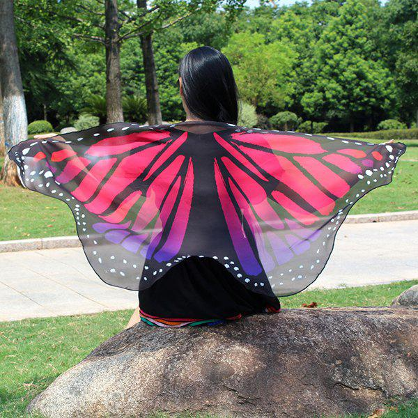 Colorful Butterfly Wings Shape Scarf 226810509