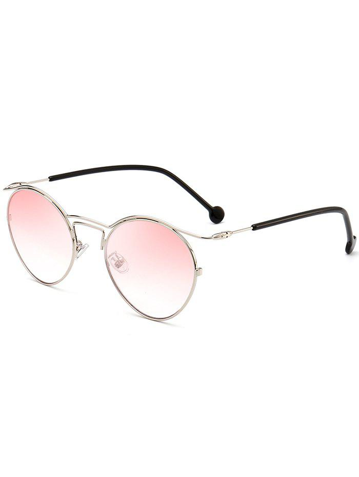 Metallic Frame Pilot Shades Sunglasses - PINK