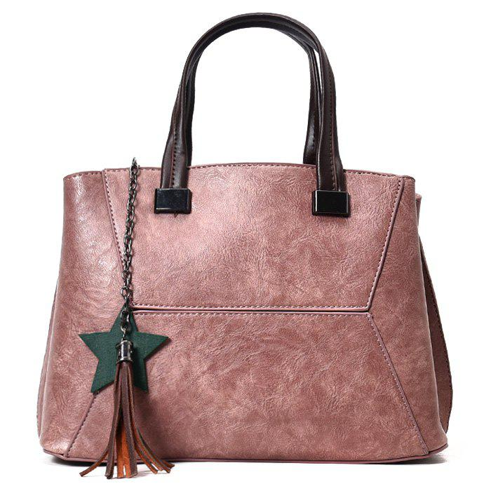 Tassel Pendants Star Handbag - PINK