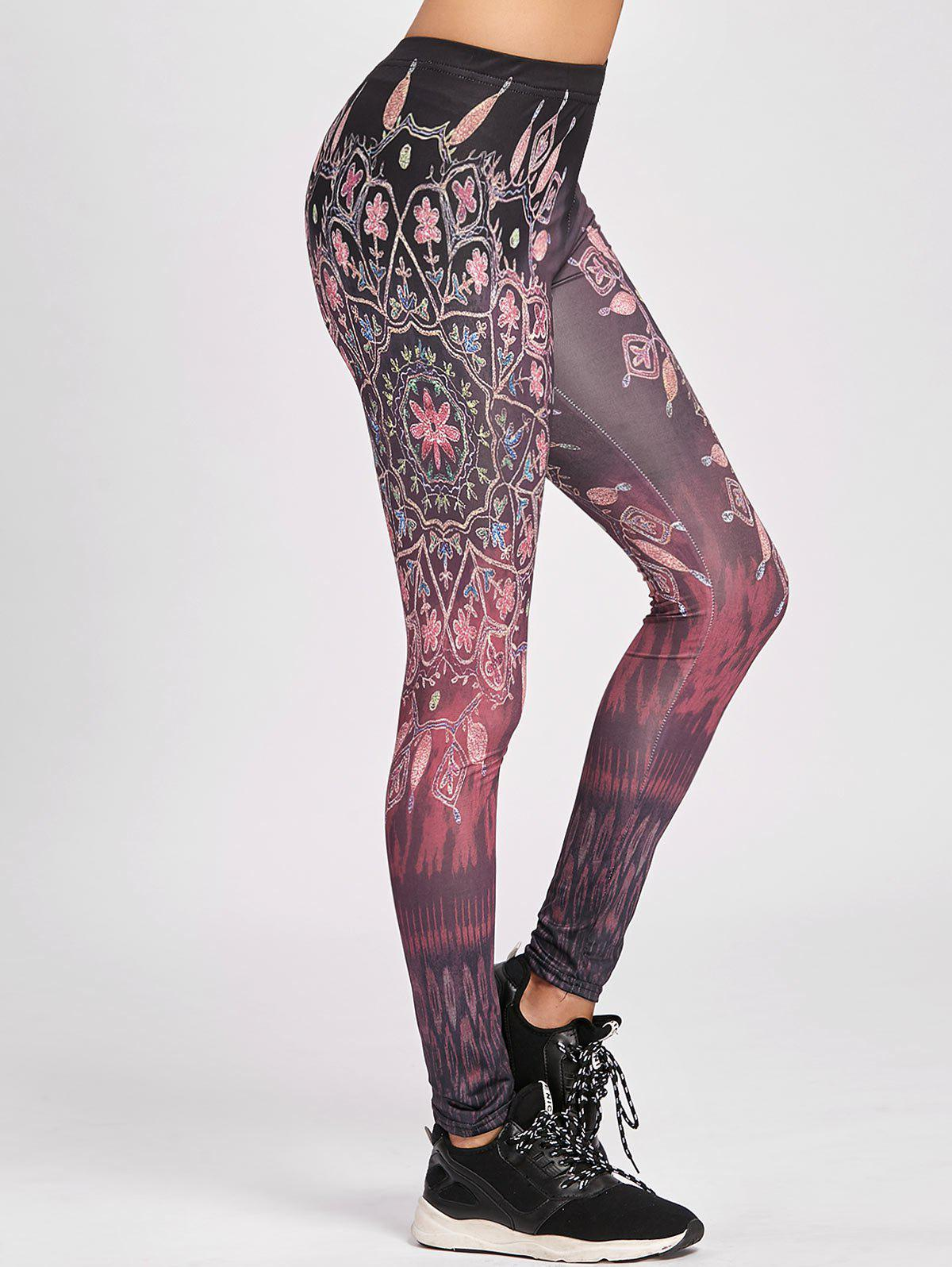 Legging Moulant Imprimé Ethnique - multicolore S