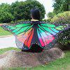 Colorful Butterfly Wings Shape Scarf - BLACK WHITE