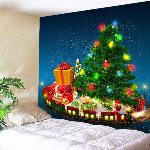 6a3d113f1e2 Christmas Tree Gifts Print Tapestry Wall Hanging Art - GREEN W59 INCH   L51  INCH