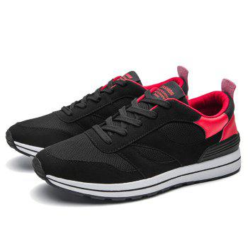 Color Block Low Top Mesh Athletic Shoes - RED 41