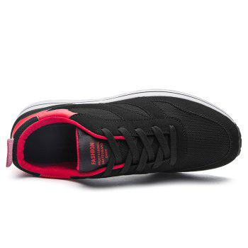 Color Block Low Top Mesh Athletic Shoes - RED 39