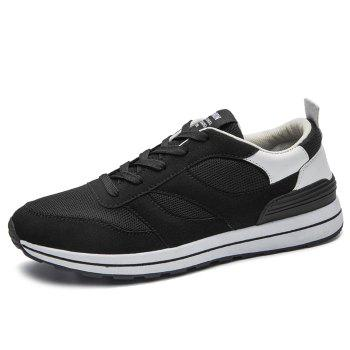 Color Block Low Top Mesh Athletic Shoes - WHITE 43