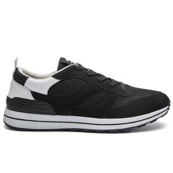 Color Block Low Top Mesh Athletic Shoes - WHITE 39