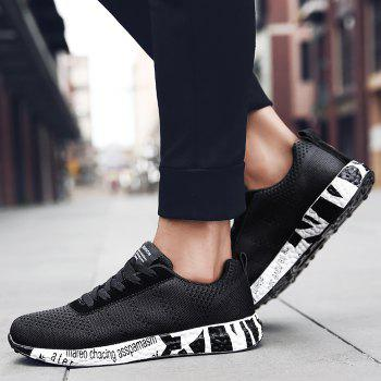 Breathable Mesh Letter Sneakers - 43 43