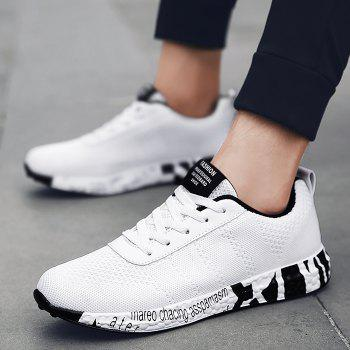 Breathable Mesh Letter Sneakers - WHITE 39