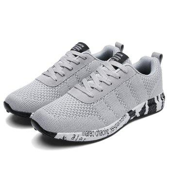 Breathable Mesh Letter Sneakers - 44 44
