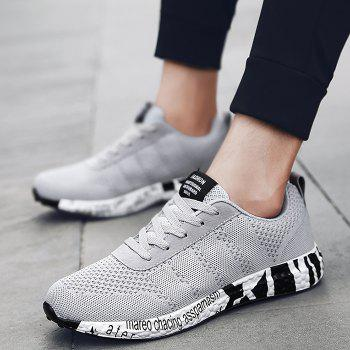 Breathable Mesh Letter Sneakers - GRAY 41