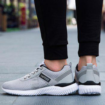 Tie Up Mesh Breathable Sneakers - DEEP GRAY 39