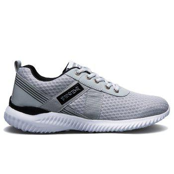 Tie Up Mesh Breathable Sneakers - DEEP GRAY 40