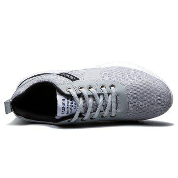 Tie Up Mesh Breathable Sneakers - 40 40