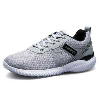 Tie Up Mesh Breathable Sneakers - DEEP GRAY 41