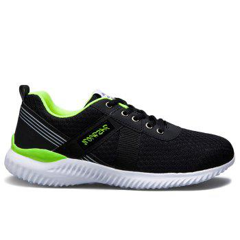 Tie Up Mesh Breathable Sneakers - NEON GREEN 44