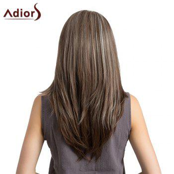 Adiors Long Side Parting Layered Natural Straight Highlight Synthetic Wig -  COLORMIX