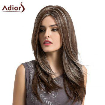 Adiors Long Side Parting Layered Natural Straight Highlight Synthetic Wig - COLORMIX COLORMIX