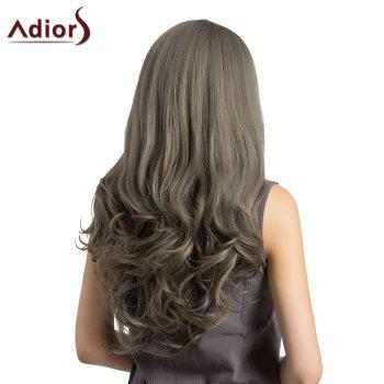 Adiors Long Layered See-Trough Fringe Curly Synthetic Wig -  GRAY