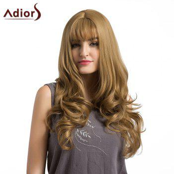 Adiors Long Layered See-Trough Fringe Curly Synthetic Wig - FLAX