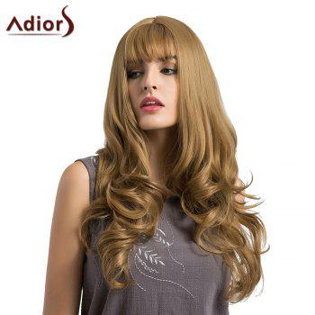 Adiors Long Layered See-Trough Fringe Curly Synthetic Wig - FLAX FLAX